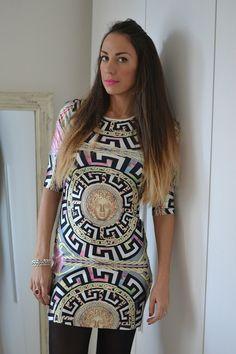 80s versace inspired dress