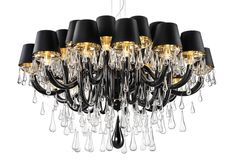 This graceful modern Murano chandelier is from the latest Murano Collection. It breathtakingly combines modern and elegance. This chandelier is large and imposi Murano Chandelier, White Chandelier, Chandelier Shades, Chandelier Lighting, Ceiling Lamp, Ceiling Lights, Lampshades, Murano Glass, Clear Glass