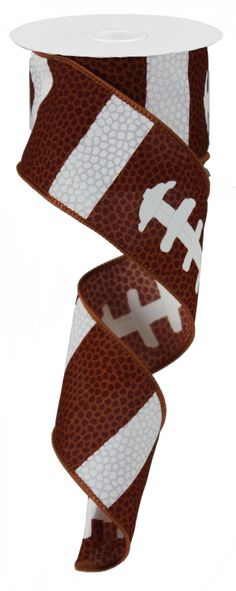 "2.5""X10YD FOOTBALL LACE RIBBON - #football #lace #ribbon"