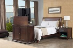 Harrison End Of Bed Motorized Flat Screen Lift Cabinet