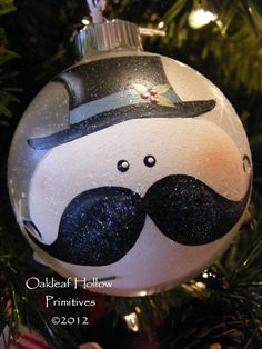 mustache snowman ornament. I must have one of these!!