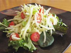 Mock Green Papaya Salad (#vegan, refined #sugarfree) @rickiheller