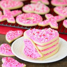 Frosted Cream Cheese Cutout Cookies.