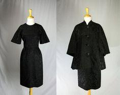 Vintage 1950s Brocade Cocktail Dress and Coat Set by madvintage ~ETS #vintagelbd #vogueteam #etsygifts