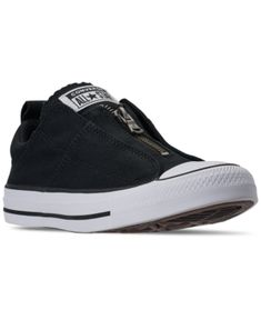 Switch up your look in the girly, ultra-comfy design of the Converse Women's Chuck Taylor All Star Madison Zipper Casual Sneakers. With a zip closure and low-key design, these sneakers make a statement! Converse Style, Converse Shoes, Shoes Sneakers, Casual Sneakers, High Top Sneakers, Chuck Taylors High Top, My Bags, All Star, Slip On
