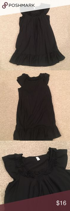 Darling Black Flutter Sleeve Dress Super cute and light weight black dress with Ruffle details and Flutter Sleeves. Old Navy Dresses