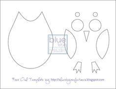 template for when I make the felt owl!
