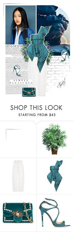 """""""simple pleasure."""" by eve-angermayer ❤ liked on Polyvore featuring WALL, Nearly Natural, Joseph, Gucci and Jimmy Choo"""