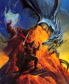 Real or illusion? (Jeff Easley, for AD&D introductory game First Quest, the one with the audio CD, TSR, 1994)