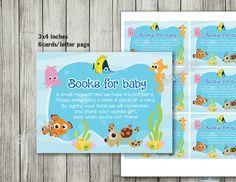 Finding Nemo Book For Baby   Baby Shower   Nemo Birthday   Boy Girl  Invitation
