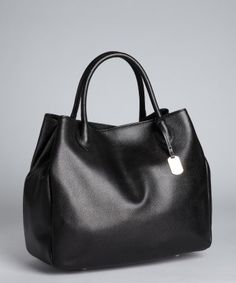 Furla : black leather 'New Giselle' shopper tote : style # 319419501