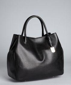 Furla : black leather 'New Giselle' shopper tote : style # 319419501