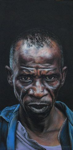 Portrait pastel sec - portrait soft pastel - artist Helena Hugo - The Carpenter 50cm x 25cm- Pastel on board.jpg