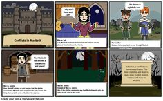 Conflicts in Macbeth storyboard by: rebeccaray