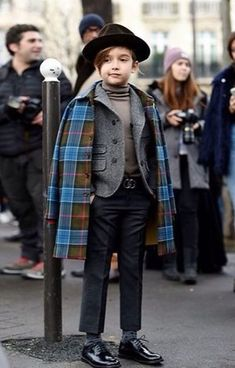 Get Serious! Kid's fashion is A Thing Gucci coat and blazer preppy look
