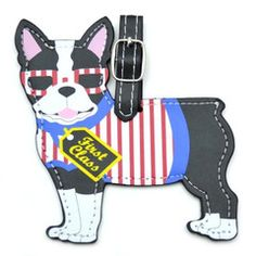 Travel in style with this striking Boston Terrier luggage tag.