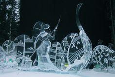 Ice art..