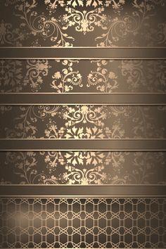 iPhone 5 home wallpaper shelf/shelves gold