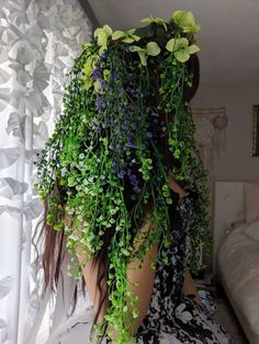 This item is unavailable Tafiti mother nature Earth goddess Gaia headdress, goddess botanical crown wig, Goddess Gaia Costume