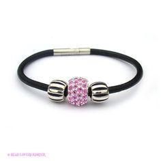 Biagi Leather European Bead Starter Bracelet by beadloverskorner, $95.00