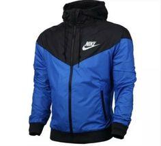 Nike Windbreaker Zip Up Hoodie Jacket Black And Blue Size XL  fashion   clothing  shoes  accessories  mensclothing  coatsjackets (ebay link) 501d6fb9df0