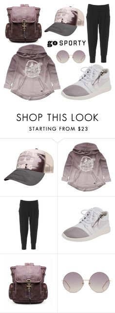 """Go Sporty Neutral"" by leiastyle on Polyvore featuring Billabong, Beyond Yoga, Giuseppe Zanotti and Linda Farrow"