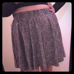 Animal Print is always in style!  I don't have good hips so it looks straight and narrow but it is actually a skater skirt. Works better if you twirl around a lot. Make it dramatic! torrid Skirts Circle & Skater
