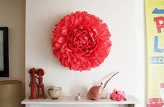 Giant coral chrysanthemum for hanging by papelSF via Etsy. (Comes in custom colors that you can choose).