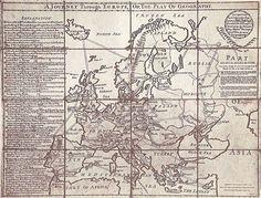El primer juego de tablero de la historia: A Journey Through Europe