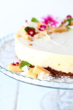 Omar-juustokakku vadelmilla - Suklaapossu Vanilla Cake, Cheesecake, Berries, Food And Drink, Sweets, Chocolate, Baking, Healthy, Desserts