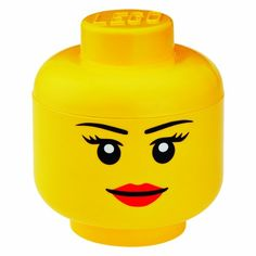Storage Head Small Girl by LEGO -- Check out the image by visiting the link.