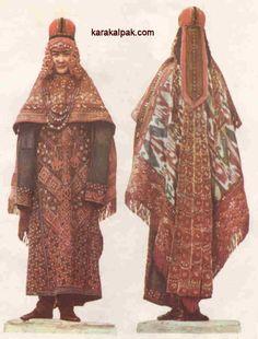 Karakalpak bride with sa'wkele and kiymeshek