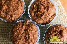 Estes muffins são feitos 100% de farinha integral e não têm nenhuma gota de óleo. A textura deles é macia, um pouco diferente da textura ...