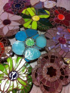 Fleurs mosaïque détail