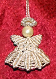macrame christmas angel ornament