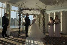 A gorgeous day and a gorgeous location for a beautiful spring wedding! At Water's Edge Restaurant #Wedding #WeddingPhotography #veil #Bride #sisters #sisterofthebride #NYCwedding #Artvesta #ArtvestaStudio #ArtvestaPhotography #Chuppah #Jewish #WatersEdge