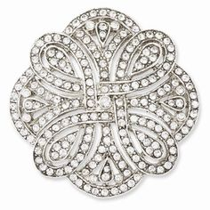 Silver-tone Crystal Pin, Best Quality Free Gift Box * Visit the image link more details. (This is an affiliate link) Crystal Jewelry, Silver Jewelry, Rose Jewelry, Jewellery, Diamond Brooch, Bohemian Jewelry, Stones And Crystals, Sterling Silver Necklaces, Artisan Jewelry