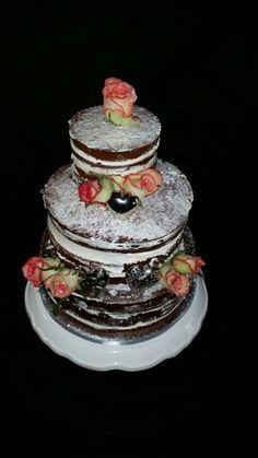 Naked Cake. Signature cream filled chocolate cake.