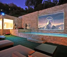 Fixed Frame Outdoor Projection Screen- ummmmm..... Yes, please