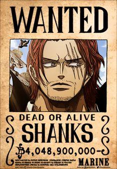 One Piece Logo, One Piece Tattoos, One Piece Comic, One Piece Pictures, One Piece Images, Wanted One Piece, One Piece Deviantart, Red Hair Shanks, One Piece Bounties