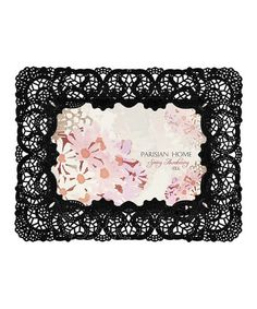 Love this Black Lace Decorative Frame by Enchante Accessories on #zulily! #zulilyfinds