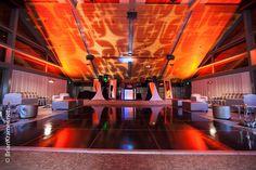 Orange - Stars - Lounge - Bar Mitzvah - Bat Mitzvah - Ceiling lighting - Gobos - Lighting design - DB Creativity - laura@dbcreativity.com