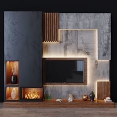 Modern Tv Unit Designs, Wall Unit Designs, Modern Tv Wall Units, Living Room Tv Unit Designs, Living Tv, Living Room Modern, My Living Room, Tv Cabinet Wall Design, Lcd Wall Design