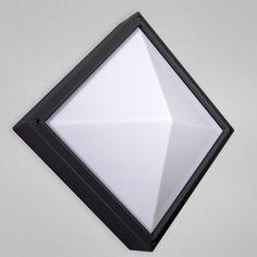 10.5INEXTERIOR SCONCE,SQ BLK : 18GYY   Bright Light Design Center