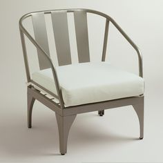 Gunmetal Palm Cove Occasional Chair SKU#  484515 Was $199.99 Now $99.99 (includes cushion; slipcovers available)