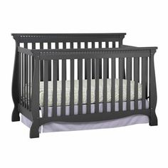 Storkcraft Venetian Fixed-Side Convertible Crib, Gray