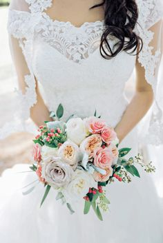 Muted-Toned Bridal Bouquet