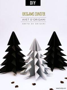 Abeto de Origami - BruDiy - Eco-friendly DIY