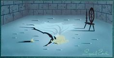 Eyvind Earle Sleeping Beauty Princess Aurora Concept Painting (Walt Disney, Princess Aurora has just - Available at 2015 December 13 - 14 Animation. Sleeping Beauty Art, Sleeping Beauty Princess, Walt Disney, Disney Fun, Disney Stuff, Disney Magic, Eyvind Earle, Animation Disney, Disney Animated Films