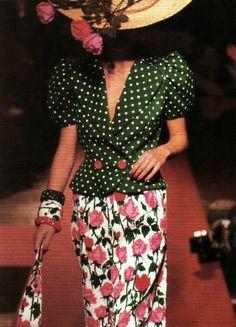 Christian Lacroix runway, Scene magazine, January 1988.